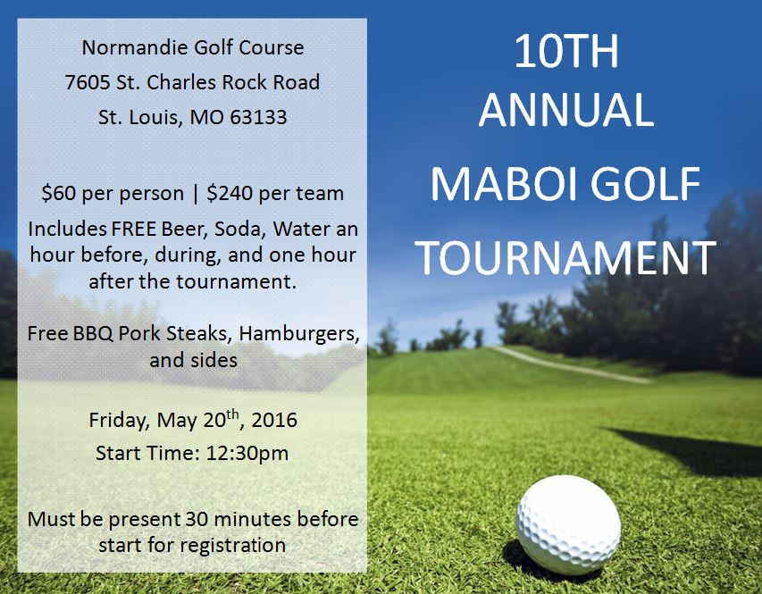 2016 golf tournament info MABOI